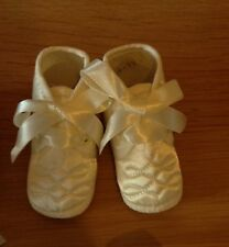 Christening shoes for baby boy in Ivory age 1-3 months BNWB