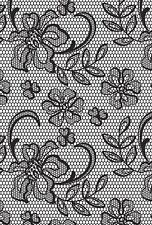 Kaisercraft Background Floral Lace Clear Stamp, Scrapbooking, Art Journal