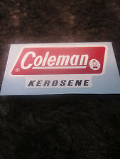 A GAS LANTERN PART FOR A COLEMAN MODEL 201 KEROSENE. A NEW LABEL(DECAL).