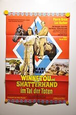 Sammlerstück Winnetou und Shatterhand im Tal der Toten Filmplakat A1 60er Jahre