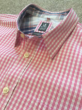 WORN ONCE WHITE STUFF BABY PINK GINGHAM WEEKEND SHIRT CLASSIC FIT XL