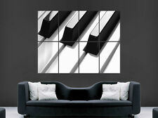 PIANO KEYS MUSIC POSTER NOTES WALL ART LARGE IMAGE