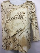Chico's CHICO POST CARD PRINT BLOUSE 2 3 NICE!~ SZ 1 BUST 38""