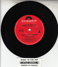 """THE STYLE COUNCIL Shout To The Top 7"""" 45 rpm vinyl record + juke box title strip"""