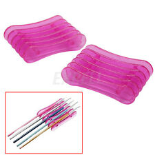 2 Pcs Acrylic UV Gel Brush Pen Nail Art Pen Holder Stand Tools Beauty Supplies