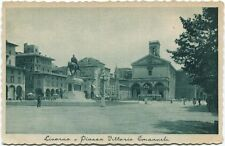 1921 Livorno piazza Vittorio Emanuele chiesa statua tram U.S.A. FP B/N VG ANIM
