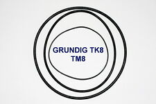 SET BELTS GRUNDIG TK8 TM8 REEL TO REEL EXTRA STRONG NEW FACTORY FRESH TK TM 8