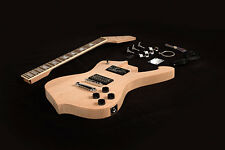 DIY Electric Guitar Kit Project Solid Mahogany Body Bolt-On Neck