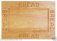 Bread Plate Board Rubberwood Slicing Hygenic Cutting Engraved Non Slip Base