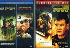 SNIPER 1-2-3+ Black Hawk Down- Tom Berenger+Billy Zane- MilitaryWar- NEW DVD's