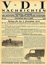 Elektro-Kraftwagen von 1923. Ingenieursbericht m. Fotos zu den Entwicklungen