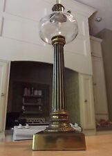 GLASS table lamp SOLID BRASS hollywood regency WESTWOOD antique vintage USA