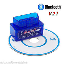 OBD2 ELM327 V2.1 Bluetooth Car Scanner Android Torque Auto Scan Tool Mini OBDII