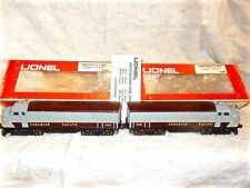 Lionel Canadian Pacific F3 A/A powered diesel and dummy with boxes-8365/8366-ex-