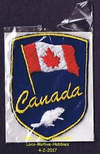 LMH PATCH Badge  CANADIAN FLAG  Canada BEAVER  Red Maple Leaf Logo Crest Emblem