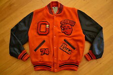 Vintage OGILVIE HIgh School LIONS Hip Hop Varsity LETTERMANS Jacket PINS Size 44
