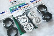 TAMIYA 1/10 RC CAR TIRE(50810)+WHEEL(50732)+INNER(53156); Semi Slick,SET