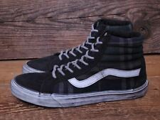 Vans Sk8 Hi Reissue CA (Overwashed Plaid) Blue/Black Men's Size 11