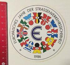Aufkleber/Sticker: EU Jahr Der Strassenverkehrssicherheit 1986 (060616198)