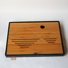 """Sun and Mountain"" Chinese Traditional Style Bamboo Tea Tray Plate Set Accessory"