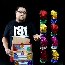 Magic Trick Flower Boxes From Empty Paper Bag Magician Stage Show Props
