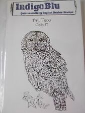 INDIGOBLU CLING MOUNTED RUBBER STAMP - T'WIT T'WOO OWL