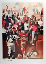 Jerry Rice Autographed Lithograph LIMITED EDITION 17x23  w/ PSA/DNA COA