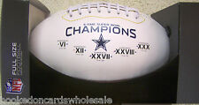 Dallas Cowboys 5 time Super Bowl Champs on the Fifty Commemorative Football