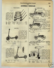 1930 PAPER AD American Flyer Hand Car Irish Mail Scout Sidewalk Scooter
