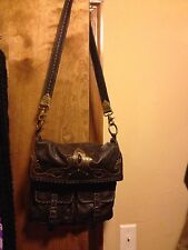 JUNIOR DRAKE Messenger Style / Crossbody  ITALIAN LEATHER BAG (lots of pockets)