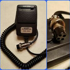 Superstar DM-452 CB Radio Echo Power Microphone Cobra Galaxy Uniden Connex 4 Pin