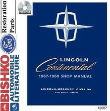 1967 1968 Lincoln Continental (No Mark) Shop Service Repair Manual CD Engine