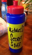 'Michael's Secret Stuff' Water Bottle Christmas *RARE* Michael Jordan Space Jam