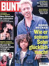 Zeitschrift BUNTE Nr. 27 von 2002, Titelseite Boris Becker mit Sohn, Effenberg