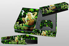 Green Leaf Decal Skin Sticker Cover Protector For XBOX ONE & Controller Console