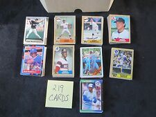 Lot of 219 Vintage Baseball Cards Mostly Topps Mid 80's early '90s