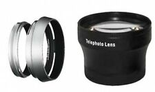 Tele Lens + Lens Hood with Adapter Ring Tube for Fuji FujiFilm X100 X100s bundle