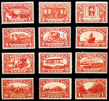 Rare Stamp Set #Q1-Q12 1c-$1 Carmine Rose Parcel Post 1913 Choice *MLH* Nice Set