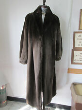 Neiman Marcus Sheared Brown Beaver Full Length Coat Large