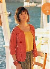 ~ Knitting Patterns For Lady's Lacy Cardigan & Baby Dress ~