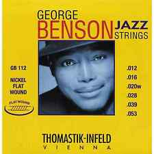 Thomastik George Benson Jazz String Set, Flatwound, Nickel, .012-.053