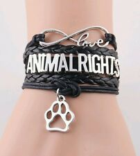 Animal Rights Faux Wrap Bracelet