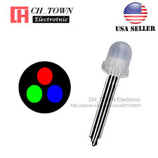 50pcs 10MM Diffused 4Pin RGB Red Green Blue Common Cathode LED Diodes USA