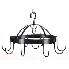 KITCHEN Mini RACK Round Hanging Black PAN POT & Utensil HOLDER New