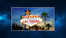 Welcome to Las Vegas Fridge Magnet NEW Americana, USA, Travel. Famous Sign