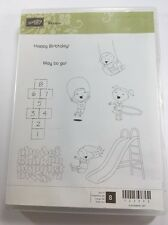 Stampin Up Clear Mount Stamp Set Recess Children Playground Hopscotch