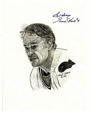 Gordie Howe caricature sketch by local New England artist Frank Nareau