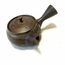 Tokoname Japanese tea pot kyusu Tosen ceramic tea strainear nerikomi 310ml