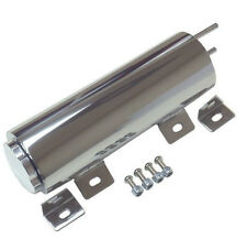 "3"" x 10""  Universal Polished Stainless Steel Radiator Overflow Tank / Puke Tank"