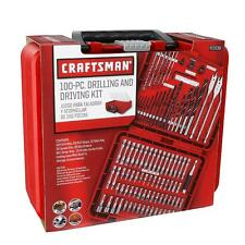 New Craftsman 100-pc Accessory Set Drill Bit Driver Screw Tools Kit Case 31639